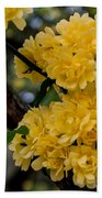 Golden Blooms Two Beach Towel