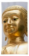 Golden Buddha Statue Beach Towel by Antony McAulay