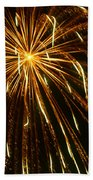Golden Burst Beach Towel