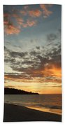 Golden Clouds At Grand Anse Beach Towel