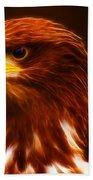 Golden Eagle Eye Fractalius Beach Towel