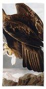 Golden Eagle Beach Towel by John James Audubon