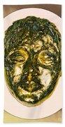 Golden Face From Degas Dancer Beach Towel