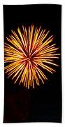 Golden Fireworks Flower Beach Towel