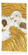 Golden Flow Stream Beach Towel