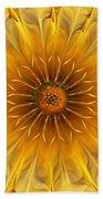 Golden Flower Beach Towel