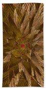 Golden Flower - Ruby Heart Beach Towel