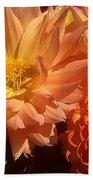 Golden Flowers Upclose  Beach Towel
