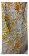 Golden Fossil Female Form Beach Towel