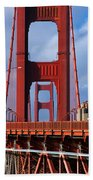 Golden Gate Bridge Beach Towel by Adam Romanowicz