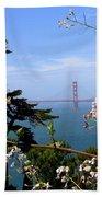 Golden Gate Bridge And Wildflowers Beach Towel