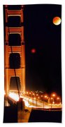Golden Gate Night Beach Towel
