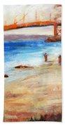 Golden Gate Stroll Beach Towel