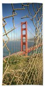 Golden Gate Through The Fence Beach Towel