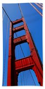 Golden Gate Tower Beach Towel by Rona Black