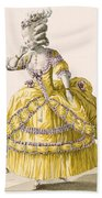 Golden Gown, Engraved By Dupin, Plate Beach Towel