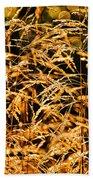 Golden Grasses Beach Towel