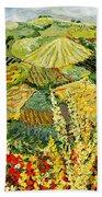 Golden Hedge Beach Towel