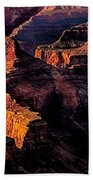 Golden Hour Mather Point Grand Canyon National Park Beach Towel