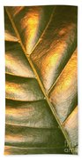 Golden Leaf 2 Beach Towel