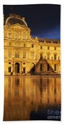 Golden Louvre - Paris Beach Towel