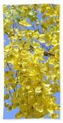 Golden Medallion Shower Tree Beach Towel