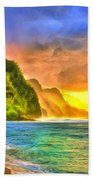 Golden Moment Beach Towel