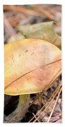 Golden Mushroom Beach Towel