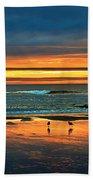 Golden Pacific Beach Towel by Robert Bales