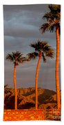 Golden Palm Trees Beach Towel