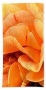Golden Peach Rose Beach Towel