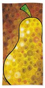 Golden Pear Beach Towel