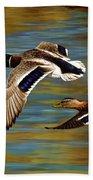 Golden Pond Beach Sheet by Crista Forest