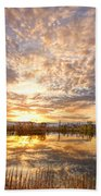 Golden Ponds Scenic Sunset Reflections 2 Beach Sheet