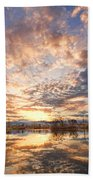 Golden Ponds Scenic Sunset Reflections 3 Beach Towel