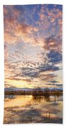 Golden Ponds Scenic Sunset Reflections 4 Beach Towel