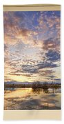 Golden Ponds Scenic Sunset Reflections 4 Yellow Window View Beach Towel