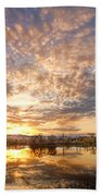 Golden Ponds Scenic Sunset Reflections 5 Beach Towel