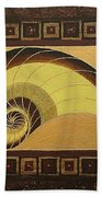 Golden Ratio Spiral Beach Towel