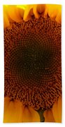 Golden Ratio Sunflower Beach Towel by Kerri Mortenson