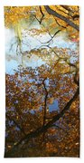Golden Reflection Beach Towel