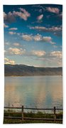 Golden Reflection On Lake Cascade Beach Towel by Robert Bales