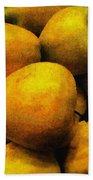 Golden Renaissance Apples Beach Towel