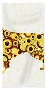 Golden Retriever - Animal Art Beach Towel