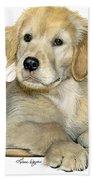 Golden Retriever Puppy Beach Towel