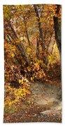 Golden Riverbank Beach Towel