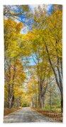 Golden Road Beach Towel