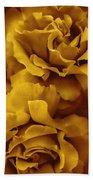 Golden Yellow Roses Beach Towel