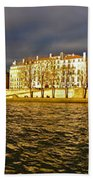 Golden Seine Beach Towel