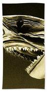 Golden Shark In Ocean City Beach Towel